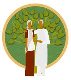 Grandparents-A nourishing tree,a comforting shade Stock Images