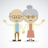 Grandparents. Over gray background vector illustration stock illustration