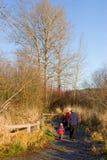 Grandparents para fora para uma caminhada Fotos de Stock Royalty Free