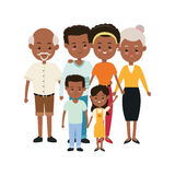 Grandparents, parents and kids icon. Family design. Vector graph Royalty Free Stock Image