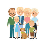 Grandparents, parents and kids icon. Family design. Vector graph Royalty Free Stock Photo