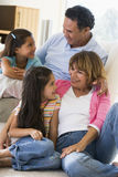 Grandparents talking with grandchildren Royalty Free Stock Photo