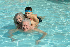 Grandparents with their grandchild Royalty Free Stock Photos