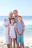 Grandparents with their grandchildren Stock Photo