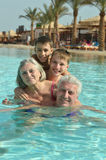 Grandparents with their grandchildren Royalty Free Stock Photography