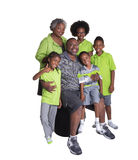 Grandparents and their 4 grandchildren Royalty Free Stock Photo