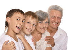 Grandparents and their two grandchildren Stock Image