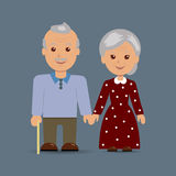 Grandparents together Stock Photography