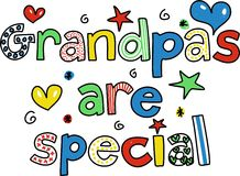 Grandpas are special. Decorative whimsical grandpas are Special text message Stock Photo