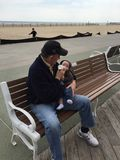 Grandpop και εγγονός Στοκ Εικόνες