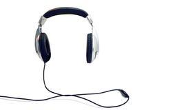 Grands écouteurs noirs Photos stock