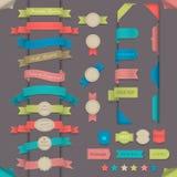 Grands éléments de conception réglée dans le rétro type illustration libre de droits