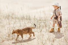 Grands advantures dans le désert Photo stock
