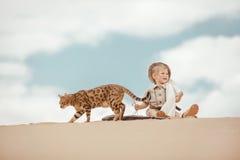Grands advantures dans le désert Image stock