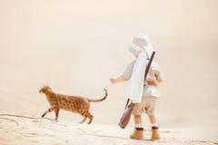 Grands advantures dans le désert Photographie stock
