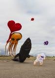 Grands cerfs-volants d'exposition Photographie stock libre de droits