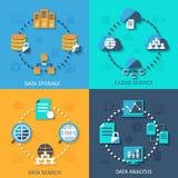 Grands composition plate en icônes des données 4 illustration de vecteur