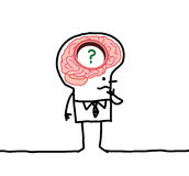 Grands desorders d'homme et de mémoire de cerveau Photographie stock