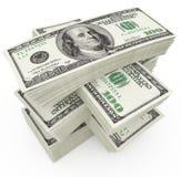 Grands dollars de montant d'argent Photo stock