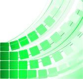 Grands dos transparents verts illustration stock