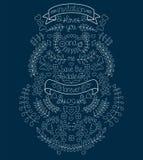 Grands ensemble, laurier, guirlandes, flèches, rubans, coeurs, fleurs et labels de graphique de mariage dans le vecteur Images stock