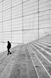Grands escaliers d'arche, Paris. La France. photo libre de droits
