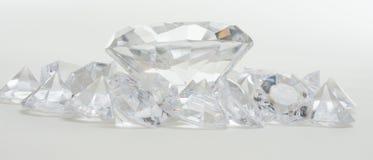 Grands et petits diamants Photo libre de droits