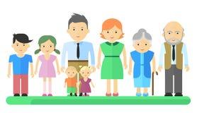 Grands femme et enfants de père de famille Photographie stock