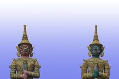 Grands géants dans le temple thaï, Thaïlande photo libre de droits