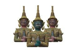 Grands géants dans le temple thaï, Thaïlande photographie stock libre de droits