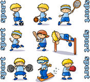 Grands graphismes de sports réglés Photo stock