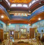 Grands intérieurs de palais de Manial, le Caire, Egypte photos libres de droits