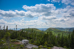 Grands-Jardins National Park. In Quebec Canada Stock Images