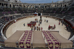 Grands jeux romains à Nîmes, France photographie stock libre de droits