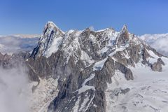 Grands Jorasses góra zdjęcie royalty free