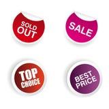 Grands labels de vente Image libre de droits