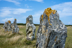Grands mégalithes neolitic - menhirs Photo stock