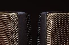 Grands microphones de capsule de studio Photographie stock