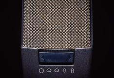 Grands microphones de capsule de studio Photos libres de droits