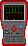 Grands oscilloscopes tenus dans la main d'écran de Digital Images stock