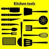 Grands outils de cuisine d'ensemble Image stock