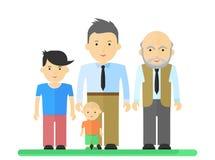 Grands père de famille et garçon Photos libres de droits
