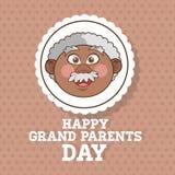 Grands-parents conception, vecteur de personnes Photo libre de droits