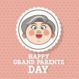 Grands-parents conception, vecteur de personnes Photo stock