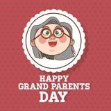 Grands-parents conception, vecteur de personnes Photographie stock libre de droits