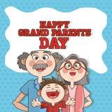 Grands-parents conception, vecteur de personnes Images libres de droits