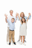 Grands-parents et enfants heureux Photo libre de droits