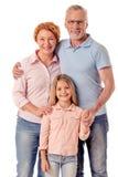 Grands-parents et petite fille Image stock
