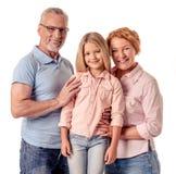 Grands-parents et petite fille Photographie stock