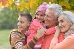 Grands-parents et petits-enfants heureux Photographie stock libre de droits